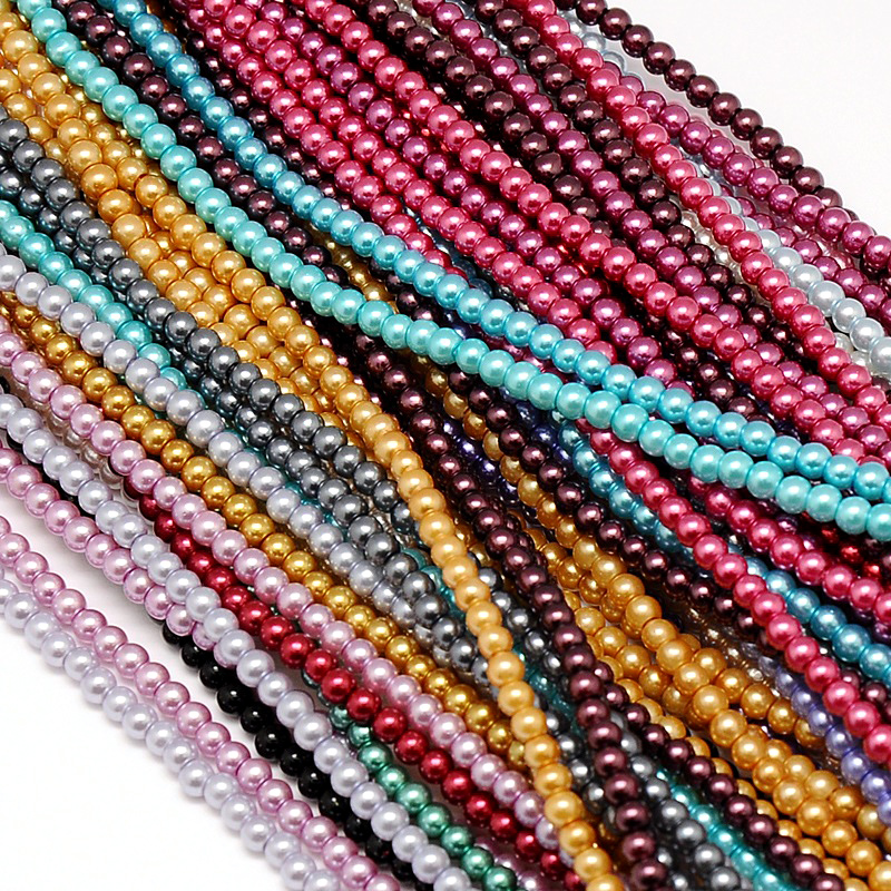 """20 Strds 16/"""" Colorful Crackle Glass Beads Round Loose Beads Beading Craft 8mm"""