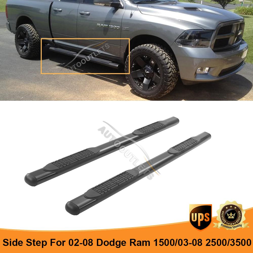 For 02 08 Dodge Ram 1500 2500 3500 Quad Cab Side Step Bar