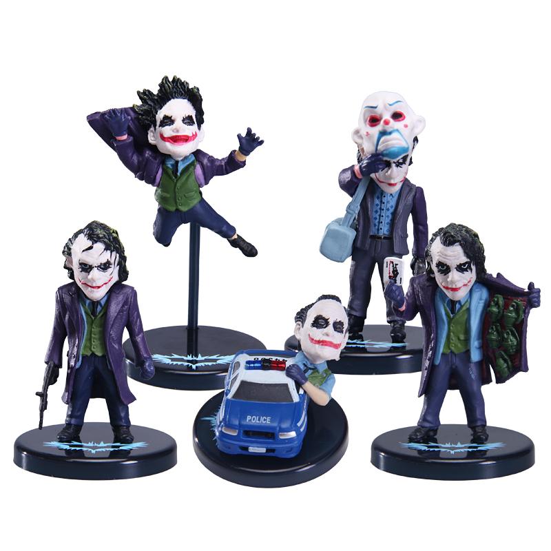 5pcs//Set Batman Dark Knight The Joker PVC Figure Model Pendan Toy Gifts