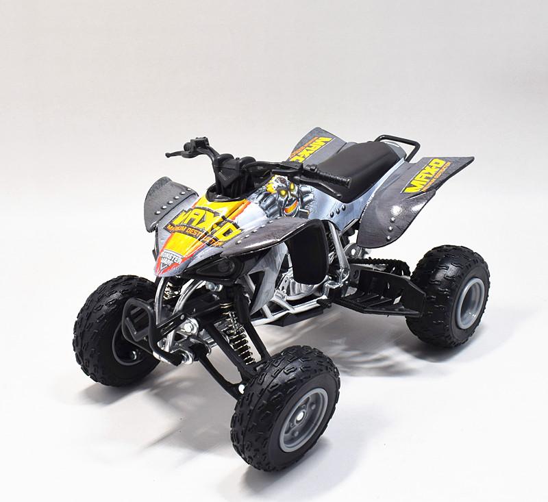 Yamaha 450 Atv >> Details About Newray 1 12 Yamaha Yfz 450 Monster Jam Max D Atv Motorcycle Model