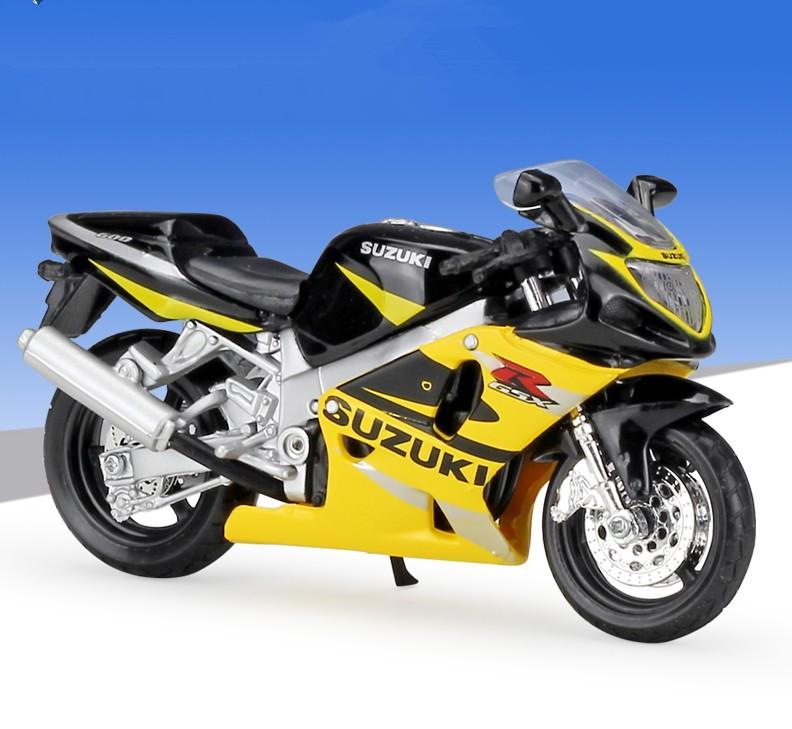 MOTO MINIATURE SUZUKI GSX  R 600  JAUNE//NOIR 1//18  MAISTO
