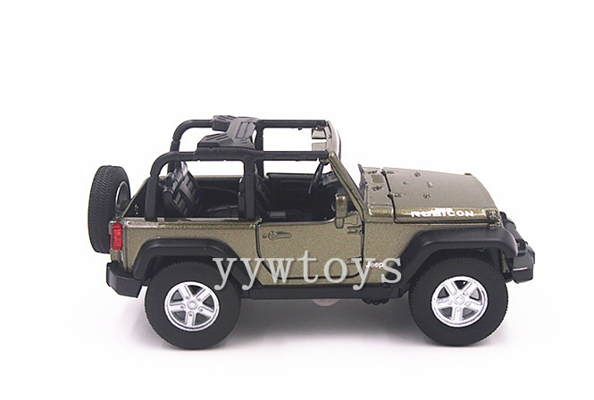MZ 1//24 Scale Diecast JEEP WRANGLER Model Cars With Box Yellow