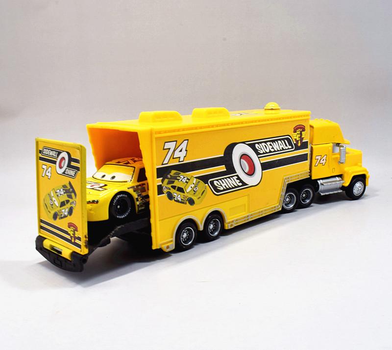 Set 2Pcs 1:55 Disney Pixar Cars No.74 Sidewall Shine Diecast Truck Car