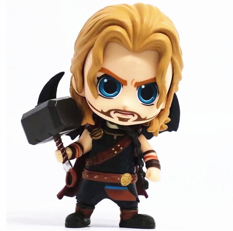 Thor 3 Ragnarok Cartoon Thor #B Bobble Head Figure 4 Inches Toy Doll New in Box