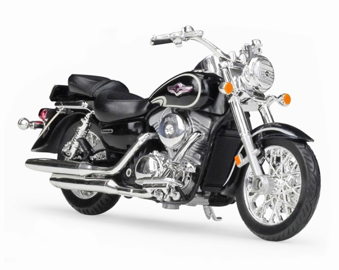2002 Kawasaki Vulcan 1500 Classic Welly moto modelo 1:18