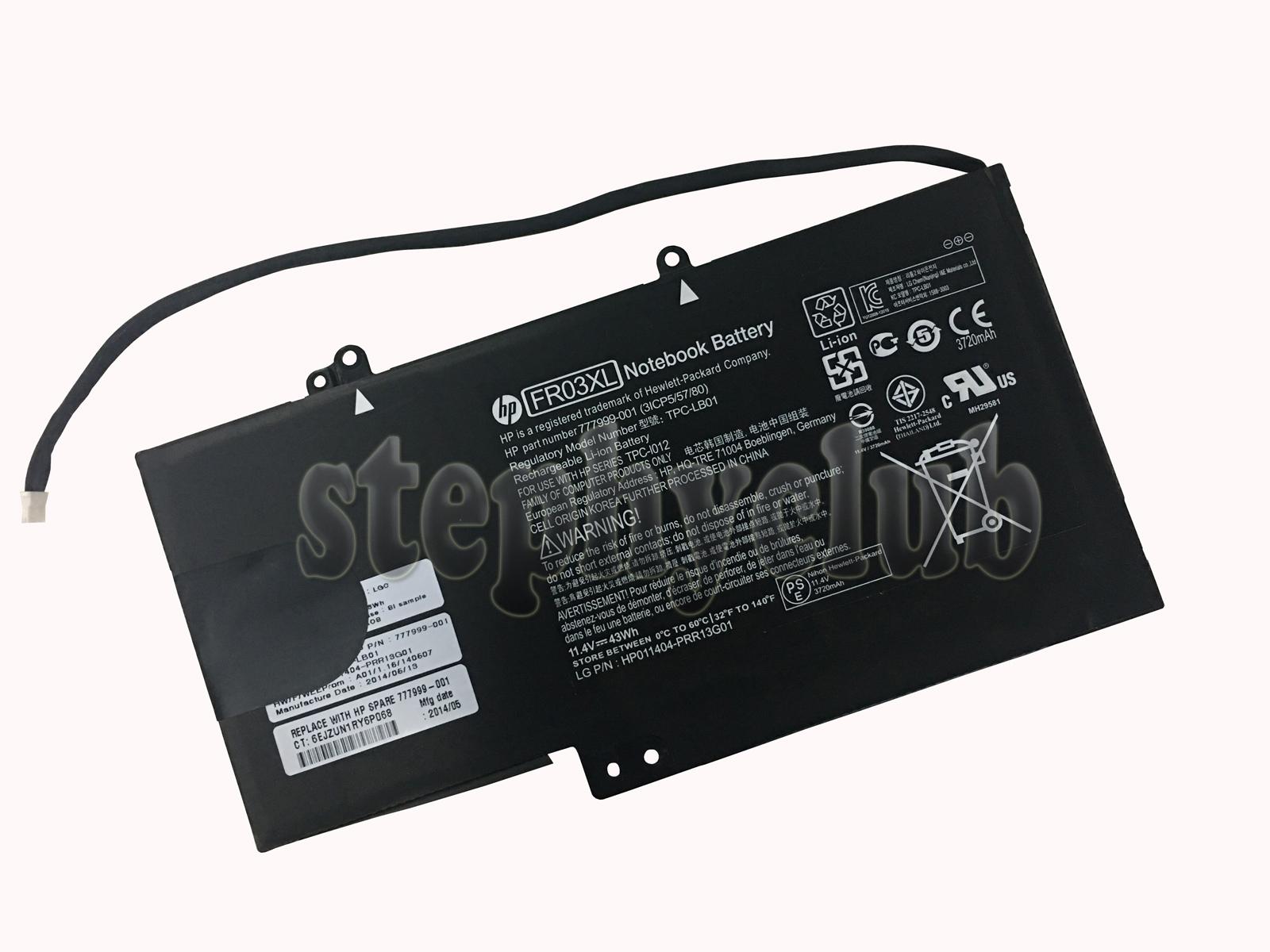 43Wh Genuine Battery FR03XL for HP TPC-LB01 TPC-I012 777999-001 ...