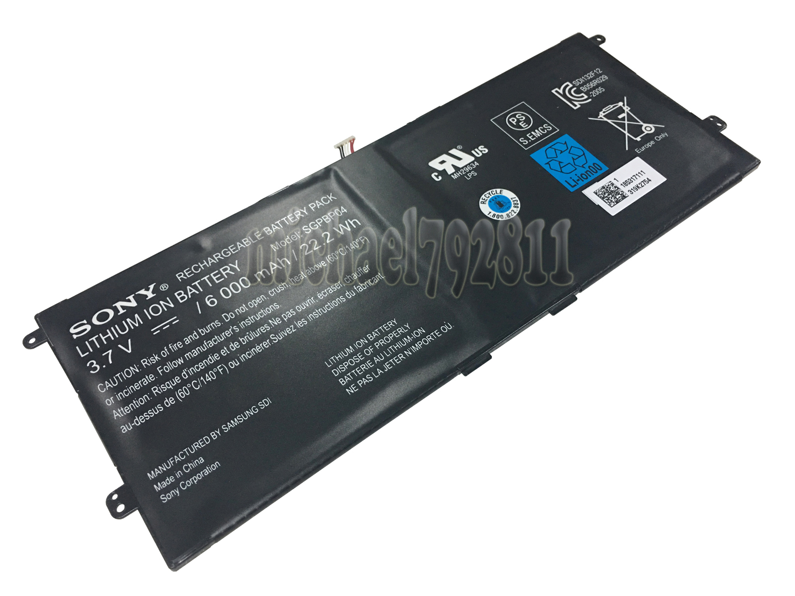 Details about Genuine Battery for SONY Xperia Tablet S Series PCG-C1R  PCG-C1S PCG-C1X SGPBP04