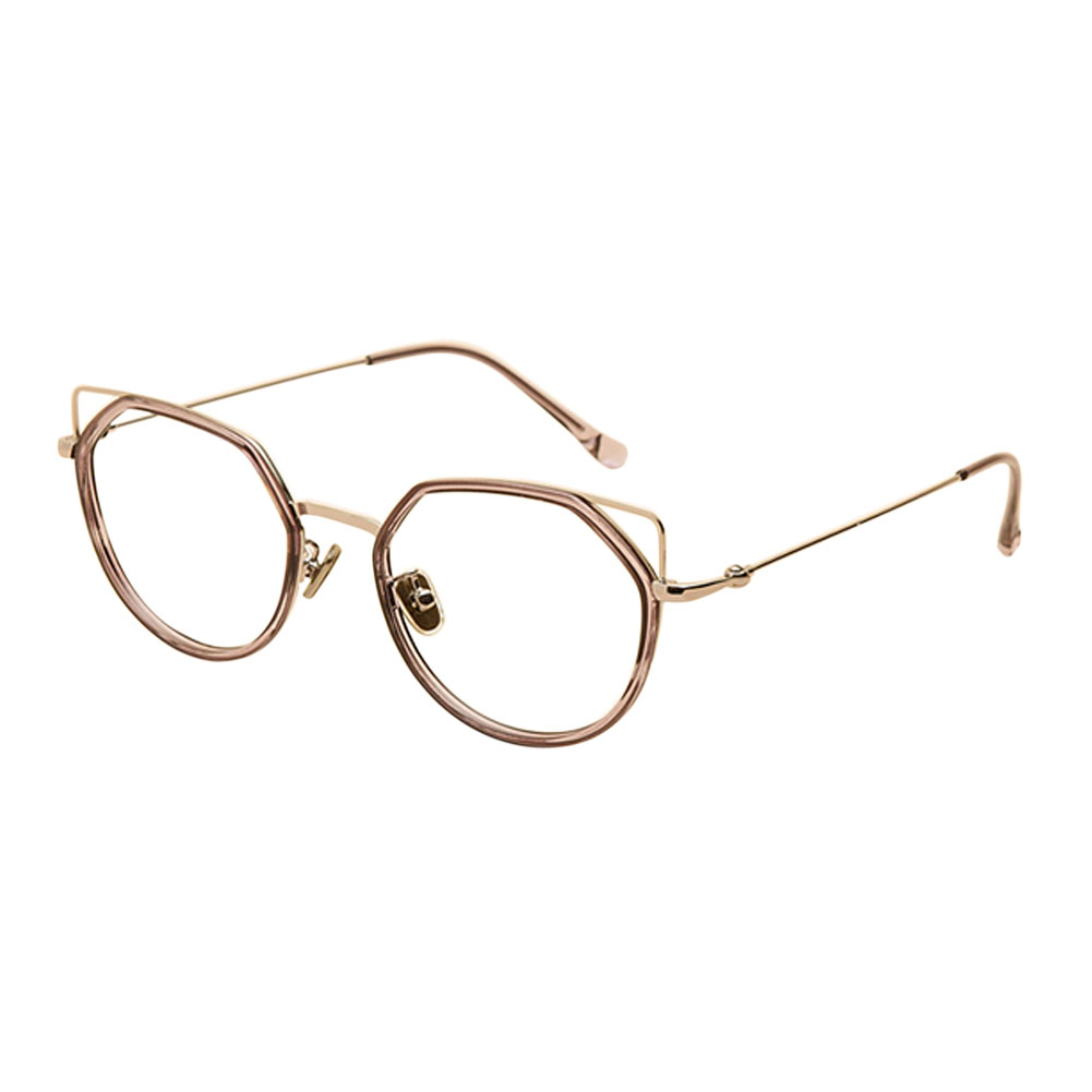 Cat Ear Irregular Glasses Metal Frame Eyeglasses Women Myopia Lenses ...