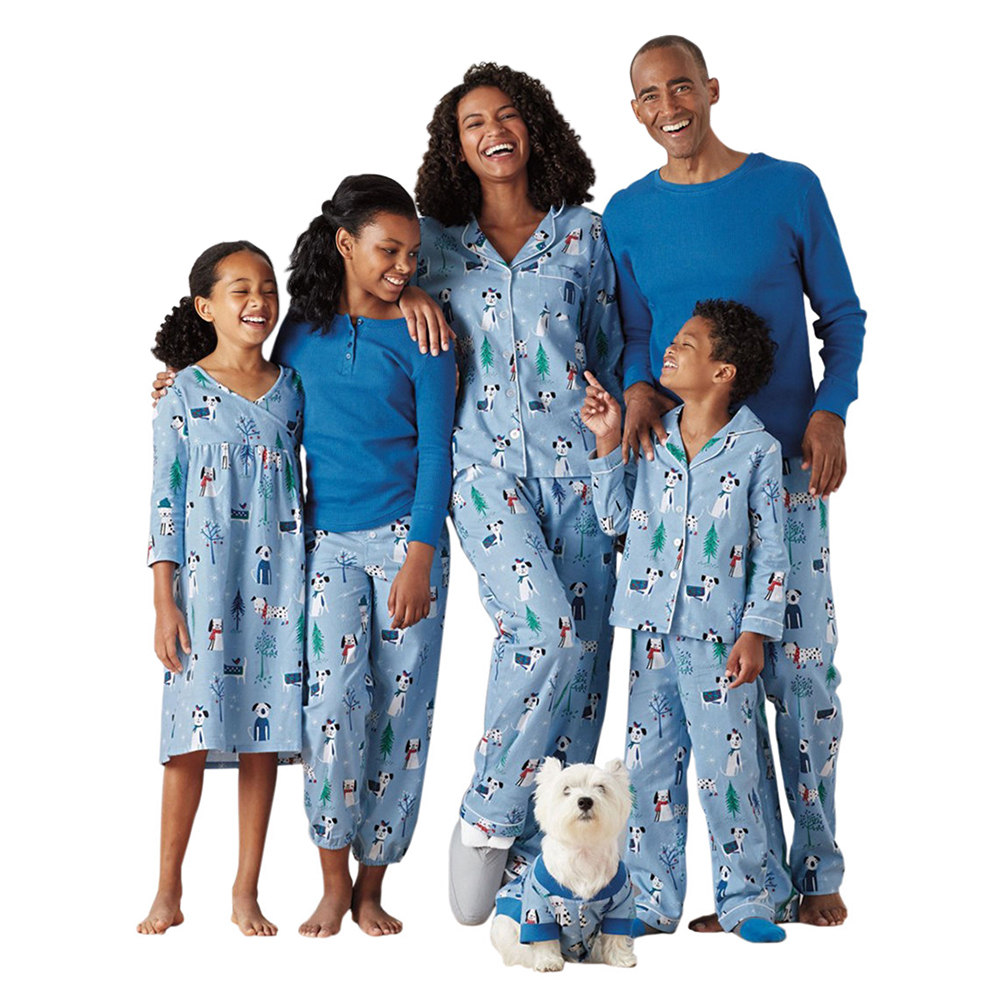 10e1ebb71a Details about Christmas Family Pajamas Set Mom Dad Kids Family Matching  Printing Nightwear New