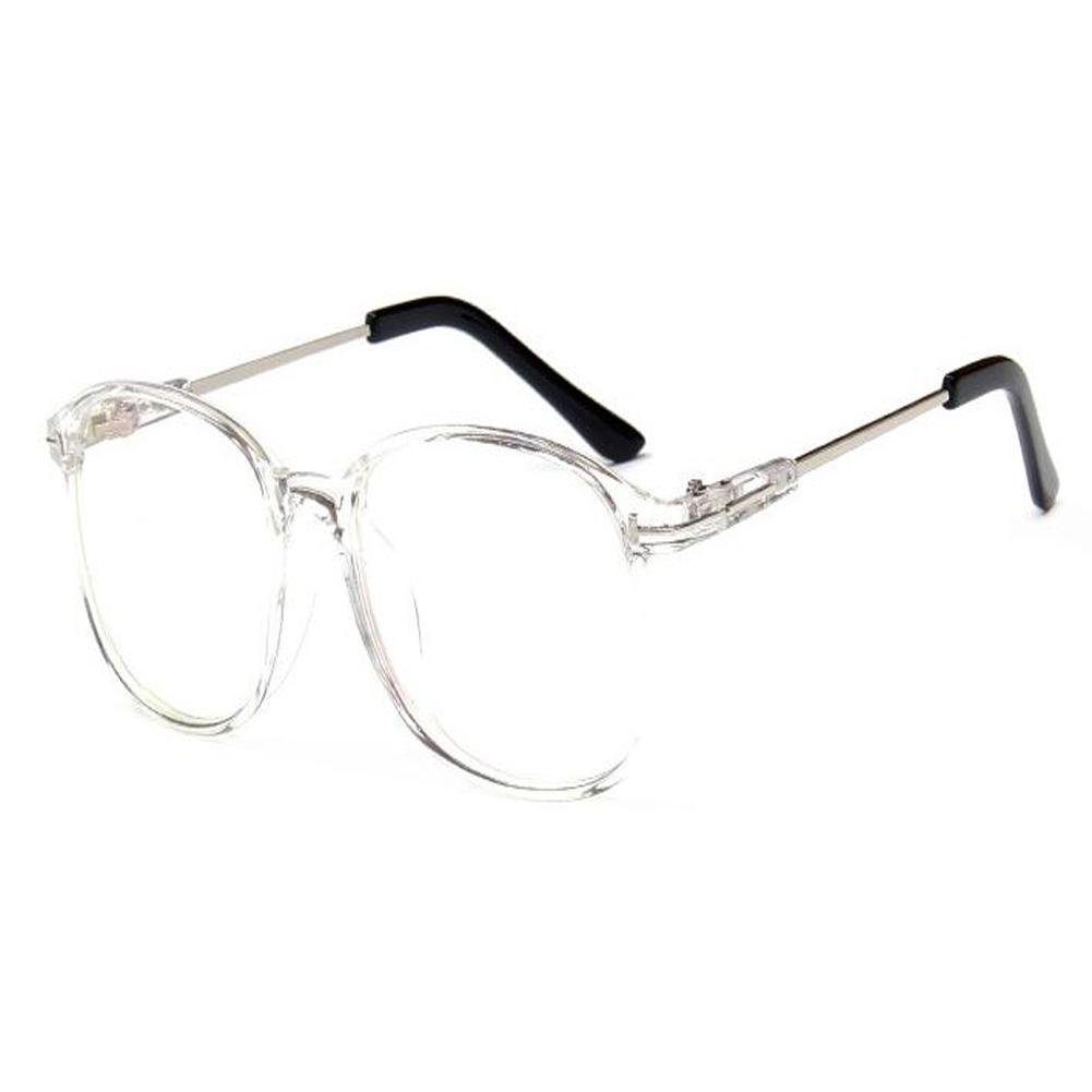 Klare Linse Brille Vintage Damen Herren Runde Metall Rahmen Brillen ...