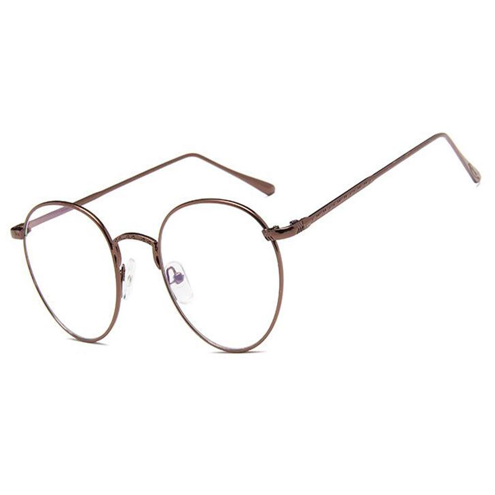Vintage Runde Brille Metall Rahmen Klare Linse Scharnier Brillen ...