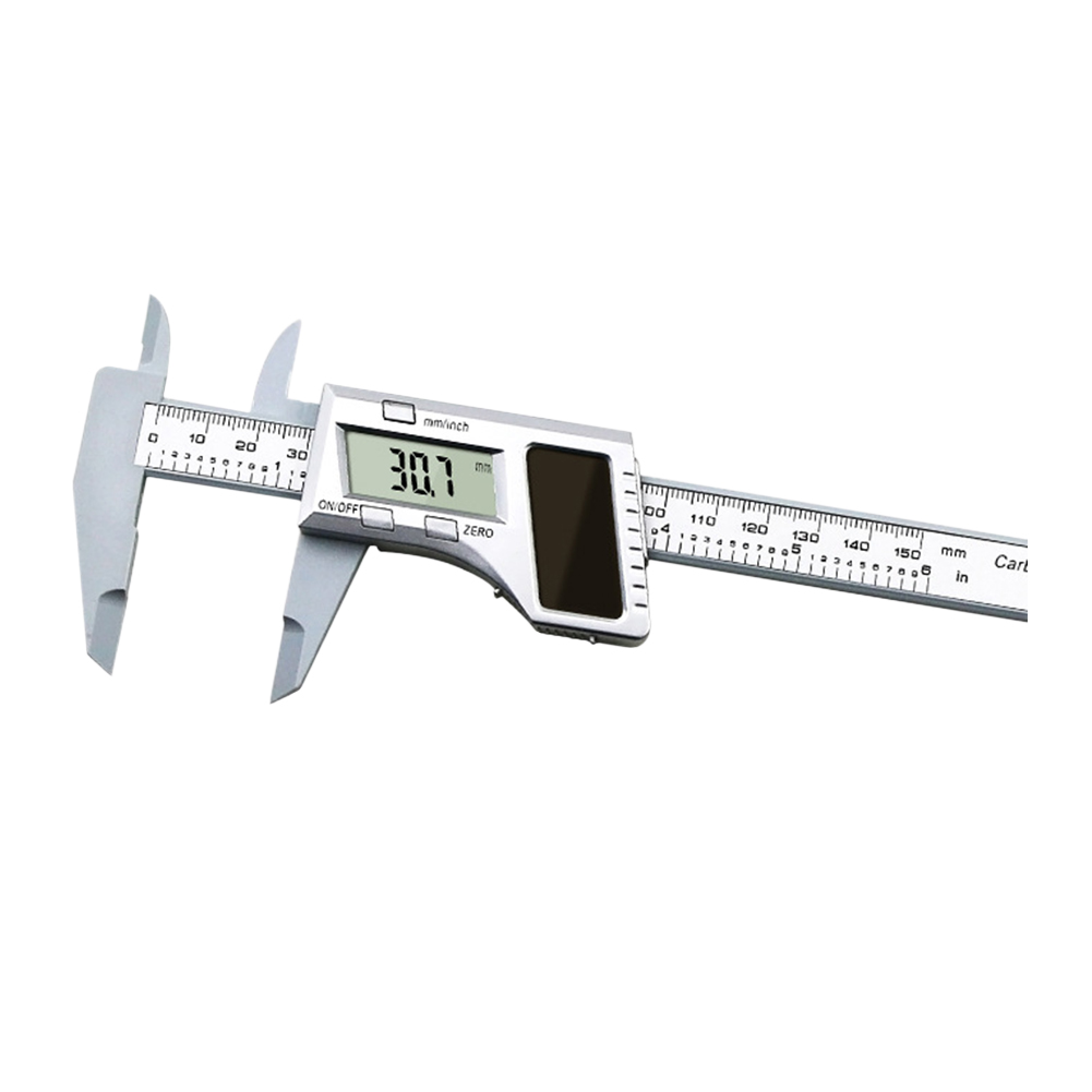 Electronic Vernier Caliper 150mm 6 Inch Range Tool Gauge Solar Power Ruler Kit Ebay