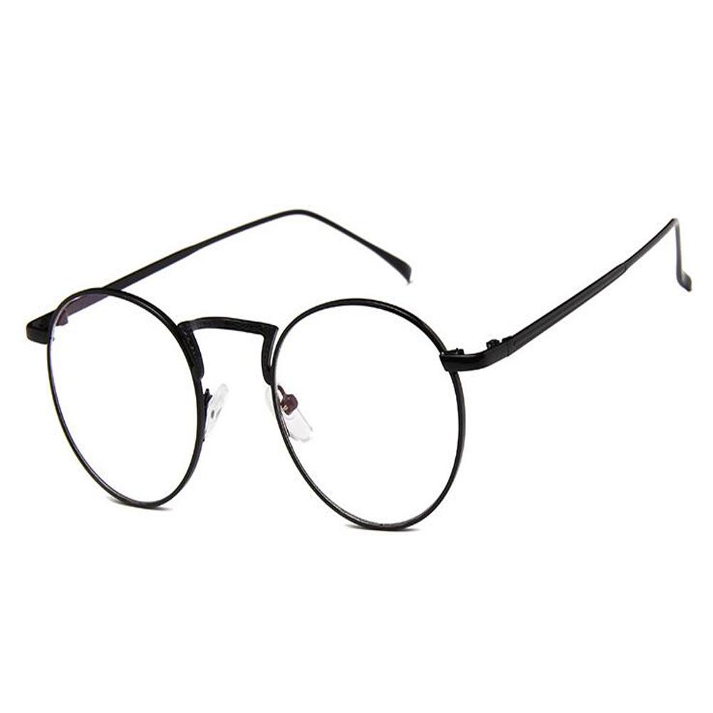 DE Runde Rahmen Brille Klare Linse Gläser Feder Scharnier Brillen ...