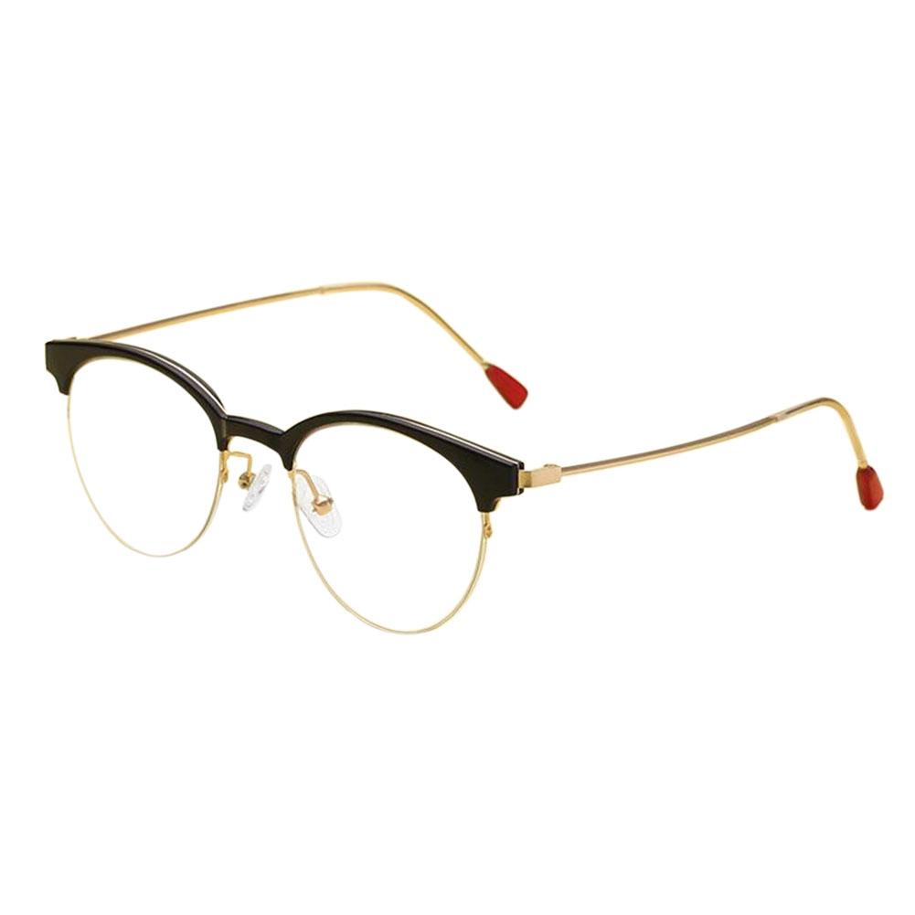 Vintage Brille Semi-randlos Rahmen Feder Scharnier Optische Gläser ...