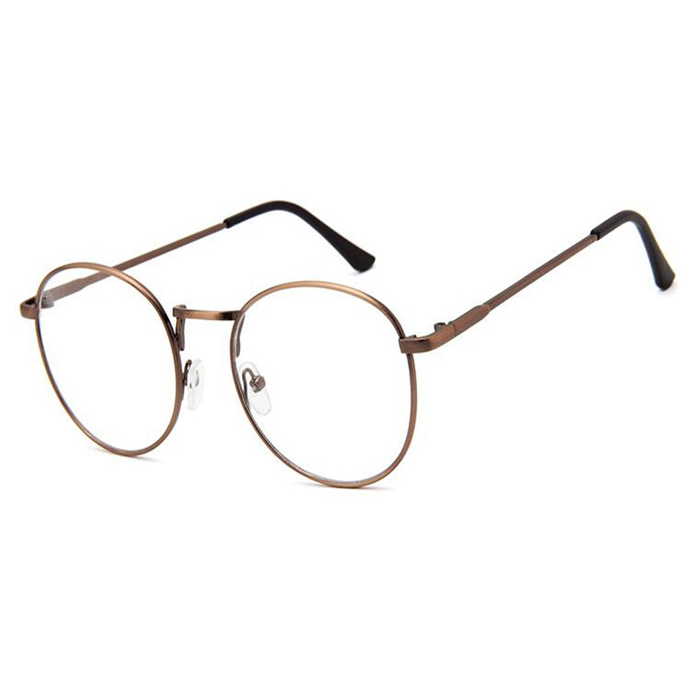 Mode Style Damen Herren Retro Runde Brille Scharnier Rahmen Klare ...