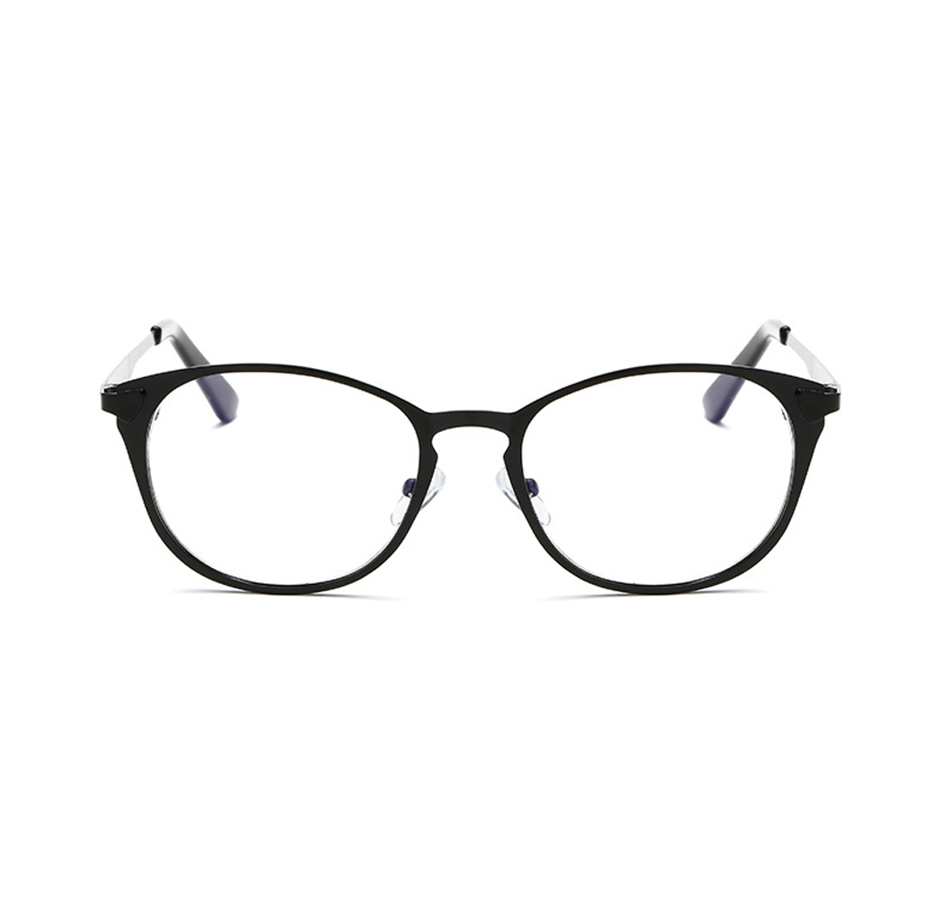 Q Retro small frame glasses metal round frame glasses without ...