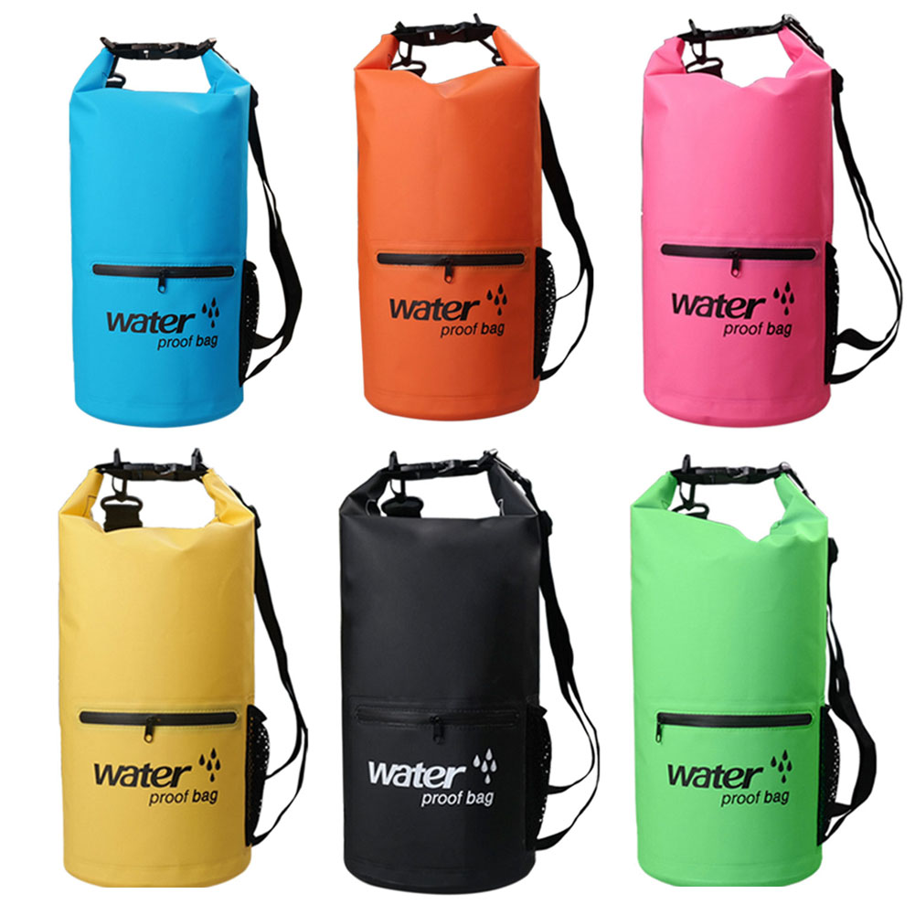6761b2264b80 Details about Zipper Waterproof Dry Bag Strap Outdoor Water Sports Hiking  Dry Sack 10L 20L TR