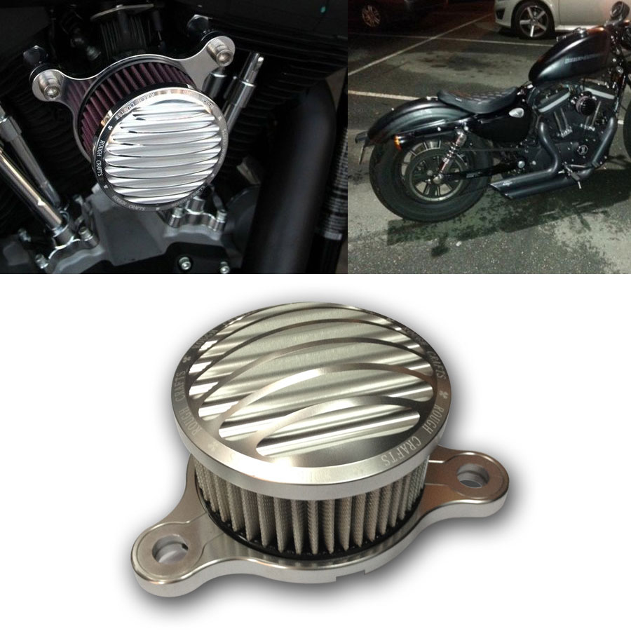Air Cleaner Intake Filter System for Harley Sportster XL 883 1200 Custom 1988-up