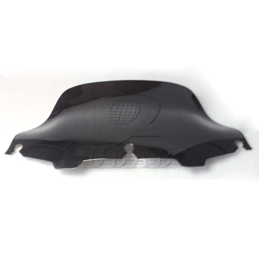 """8/"""" Black Wave Windshield+Bag Saddle 3 Pouch Pocket for Harley Touring 96-13"""
