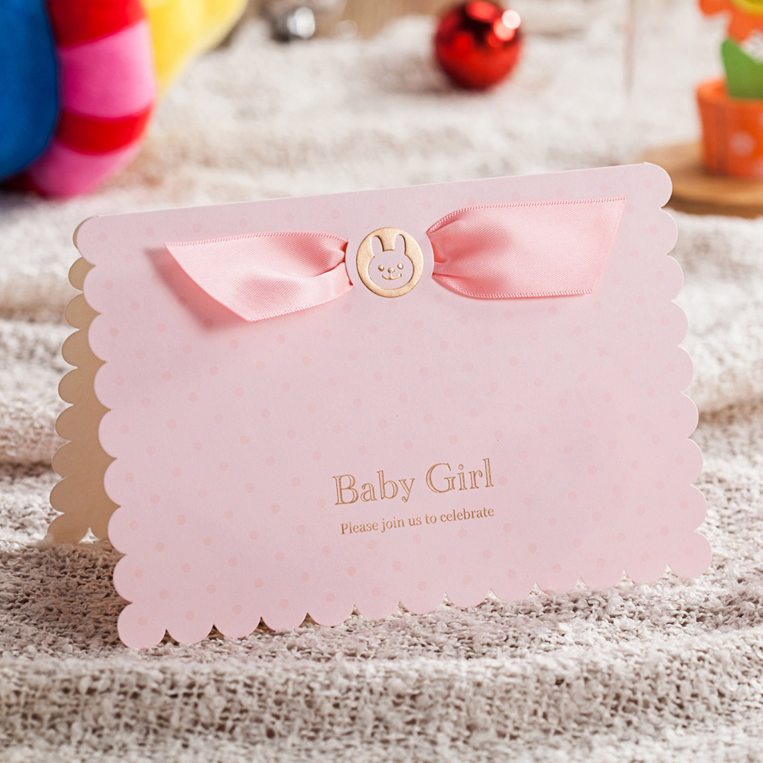 Details About Baby Shower Invitations Cards Kit Pink Printable For Girl Birthday With Envelope