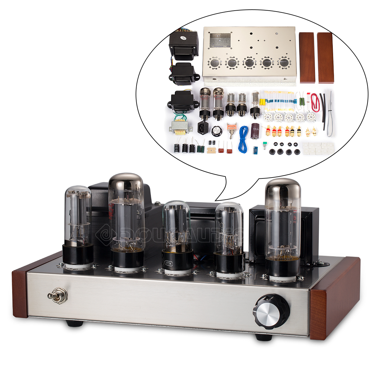 Details about 6H8C+6L6 Vacuum Tube Power Amplifier HiFi Single-Ended Class  A Audio Amp DIY Kit