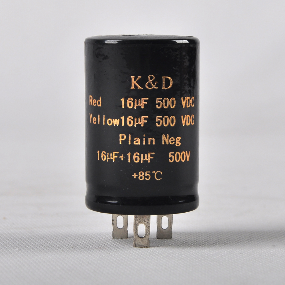 1pc 500V 16uf 16uf 85C New Can Eelectrolytic Capacitor for tube amp audio part