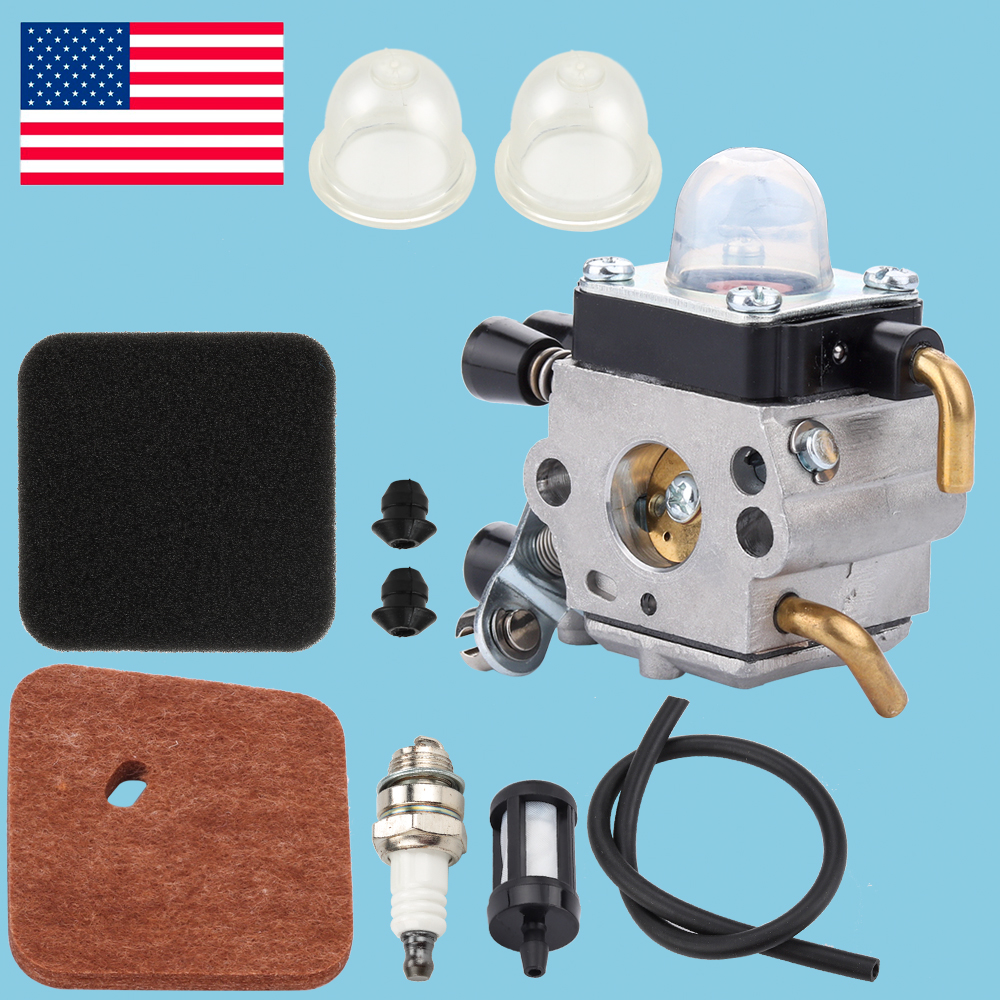 10PCS Carburetor Air Filter Spark Kit For STIHL FS55R FS55RC HL45 KM55 Trimmer