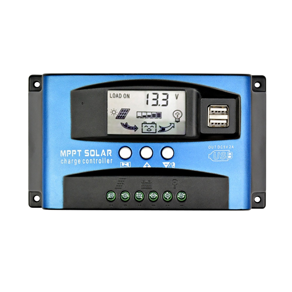 LCD 30 A Maximum Power Point Tracking Solar Charge Controller Panel Batterie Regulator PWM Dual USB 12//24V