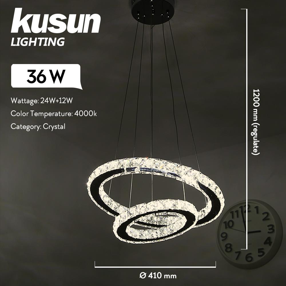Schön Kronleuchter Kristall Modern Das Beste Von 36w Led Zwei Ringe 4500k Neutral Weiss
