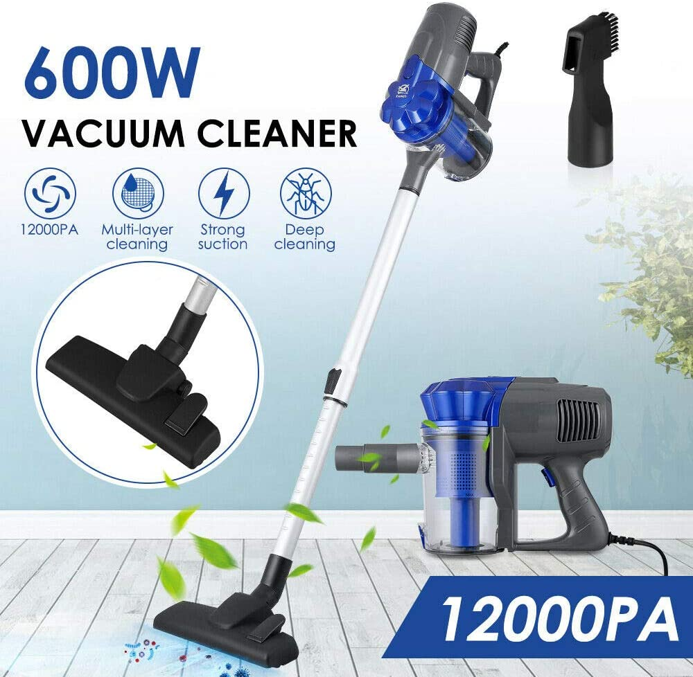 Details about 600W Bagless Stick Vacuum Cleaner Lightweight Upright Handheld Vac Hoover 12Kpa