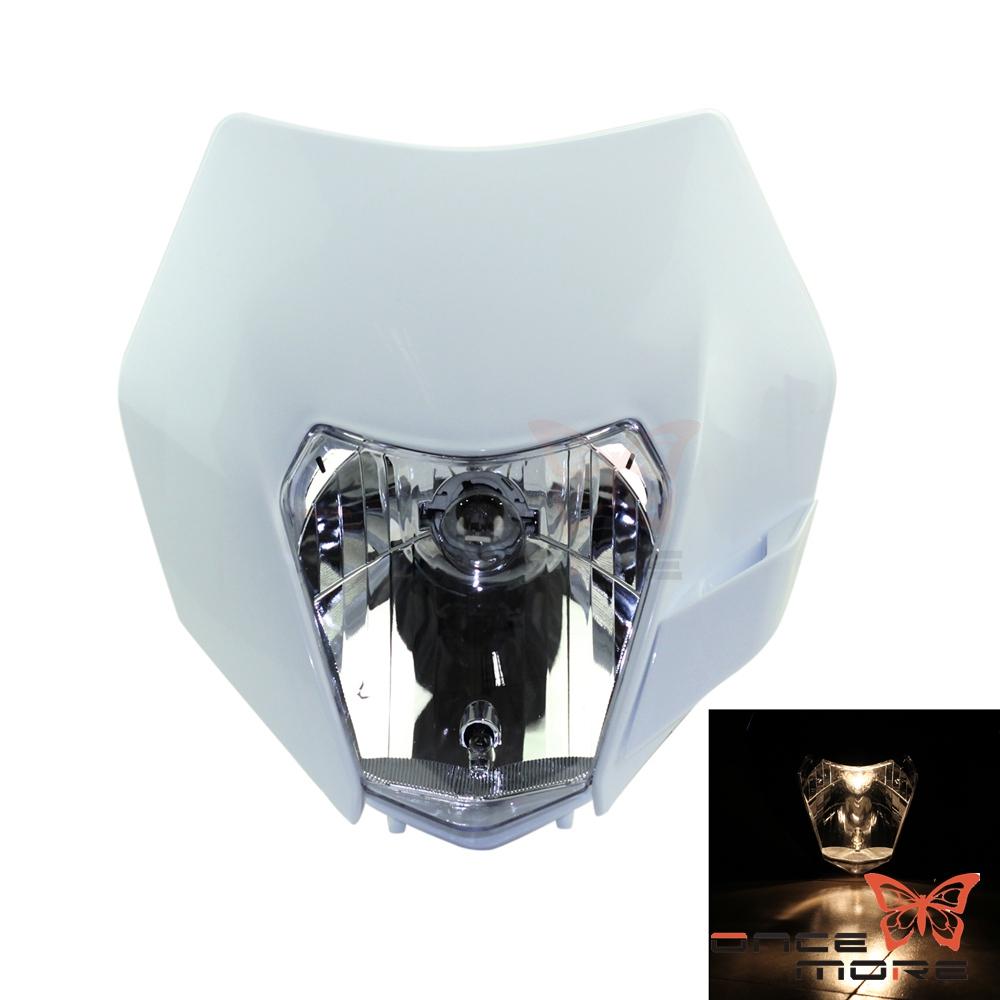 Motocross Headlight LED Dirt Bike Headlamp Fairing For SC XC XCW 125 200 690 | eBay