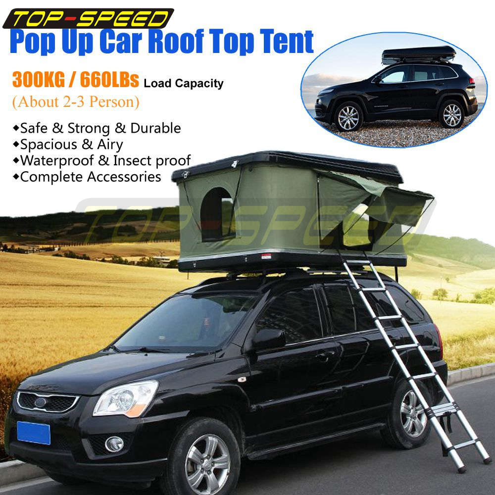 pick up d125e 1f050 Details about Pop Up ABS Hard Shell Family Camping Car/Truck/Suv/Van Roof  Top Tent w/ Ladder