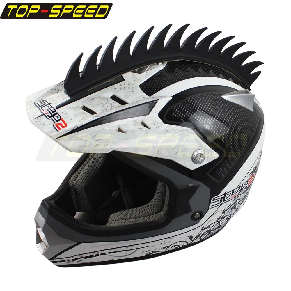Motorcycle Helmet Street Sport Bikes Helmets Rubber Spikes Mohawks 1cbr Ninja Zx