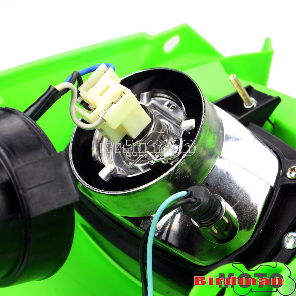 Supermoto Dirt Bike Vision Headlight Head Front Lamps