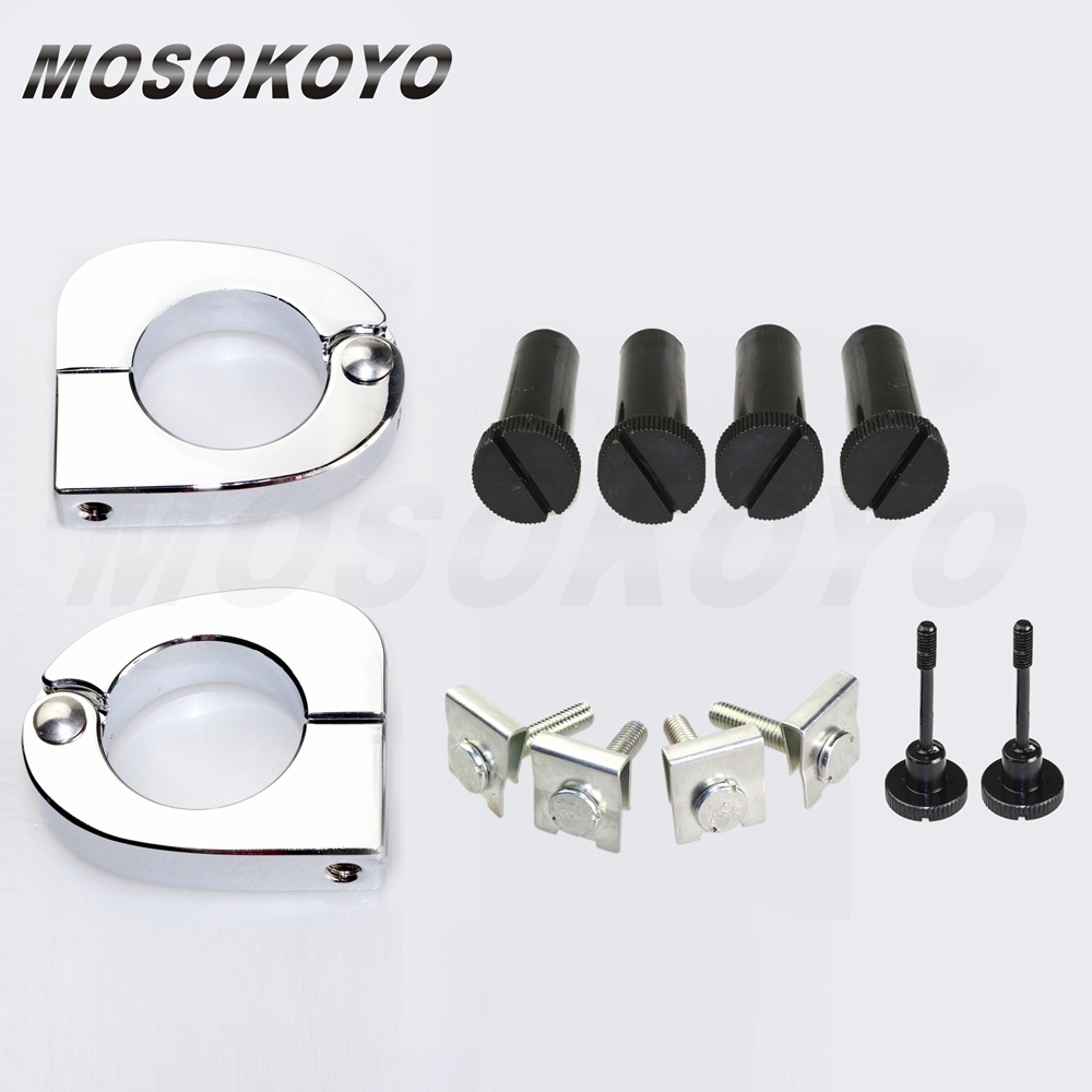 Quick Release Mounting Hardware Clamps for Harley FLT Lower Vented Fairing 89-13