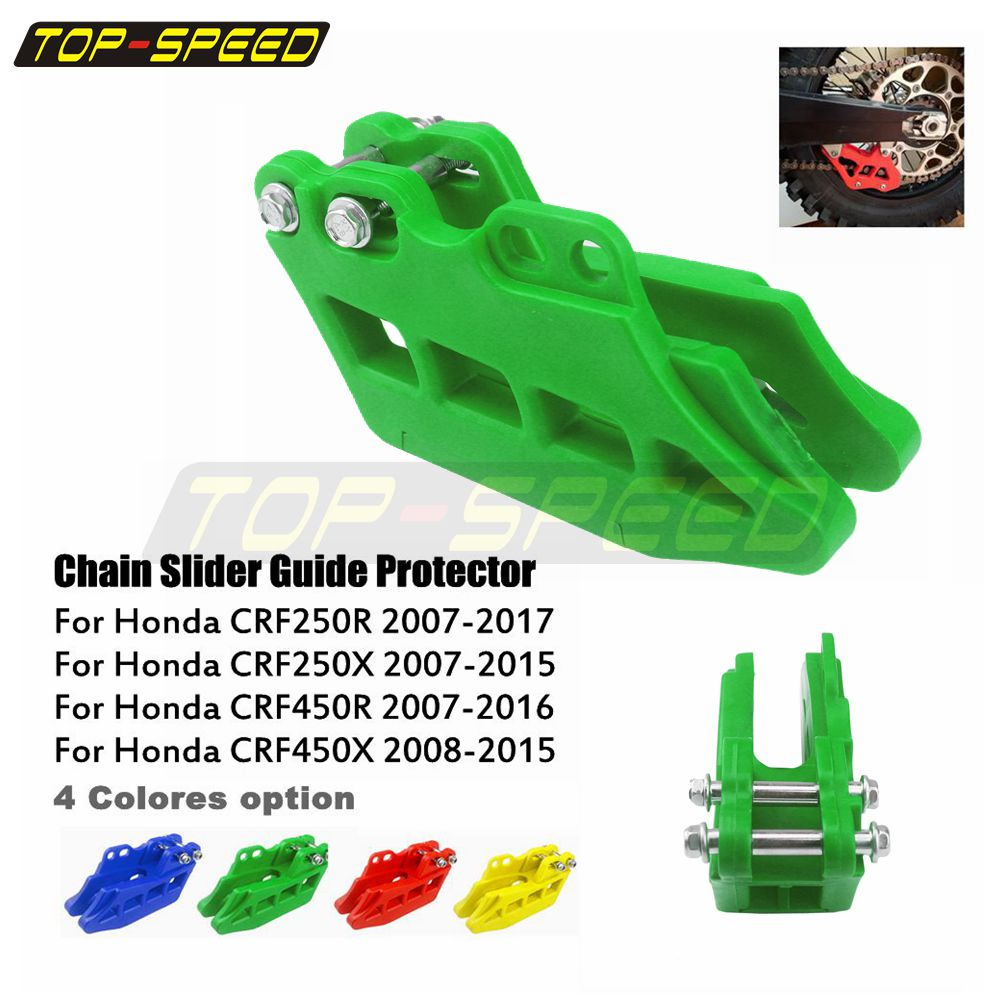 CNC Anodised Red Rear Chain Guide Guard For Honda CRF250R//X 2007-2015 CRF450R//X