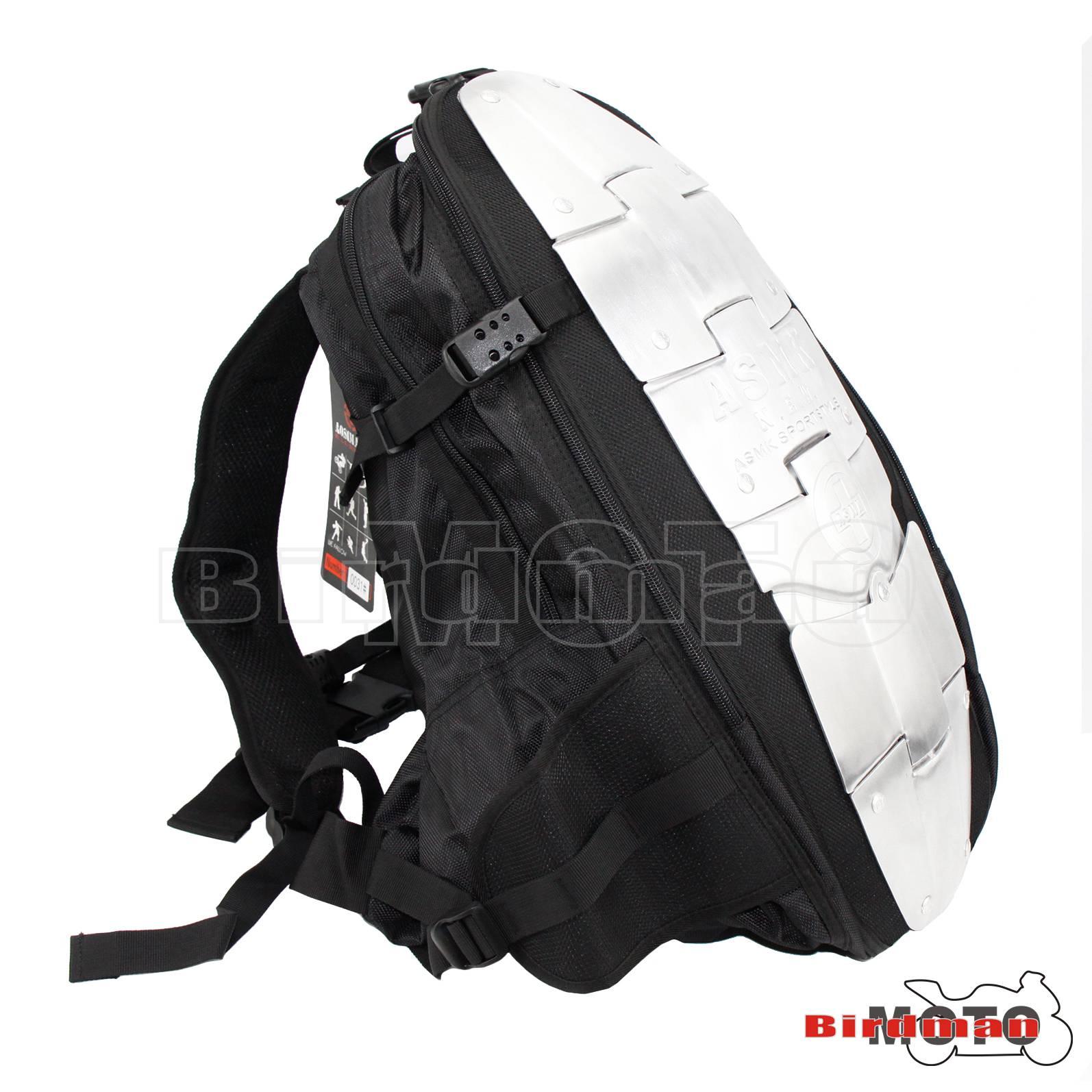 ALUM ARMOR MOTORCYCLE BACKPACK BAG BACK SPINE PROTECTOR I BACK02