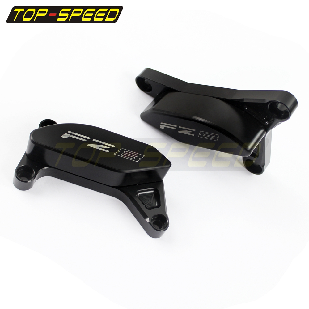 CNC Engine Cover Frame Slider Pad Protector Crash For Yamaha FZ8 ...