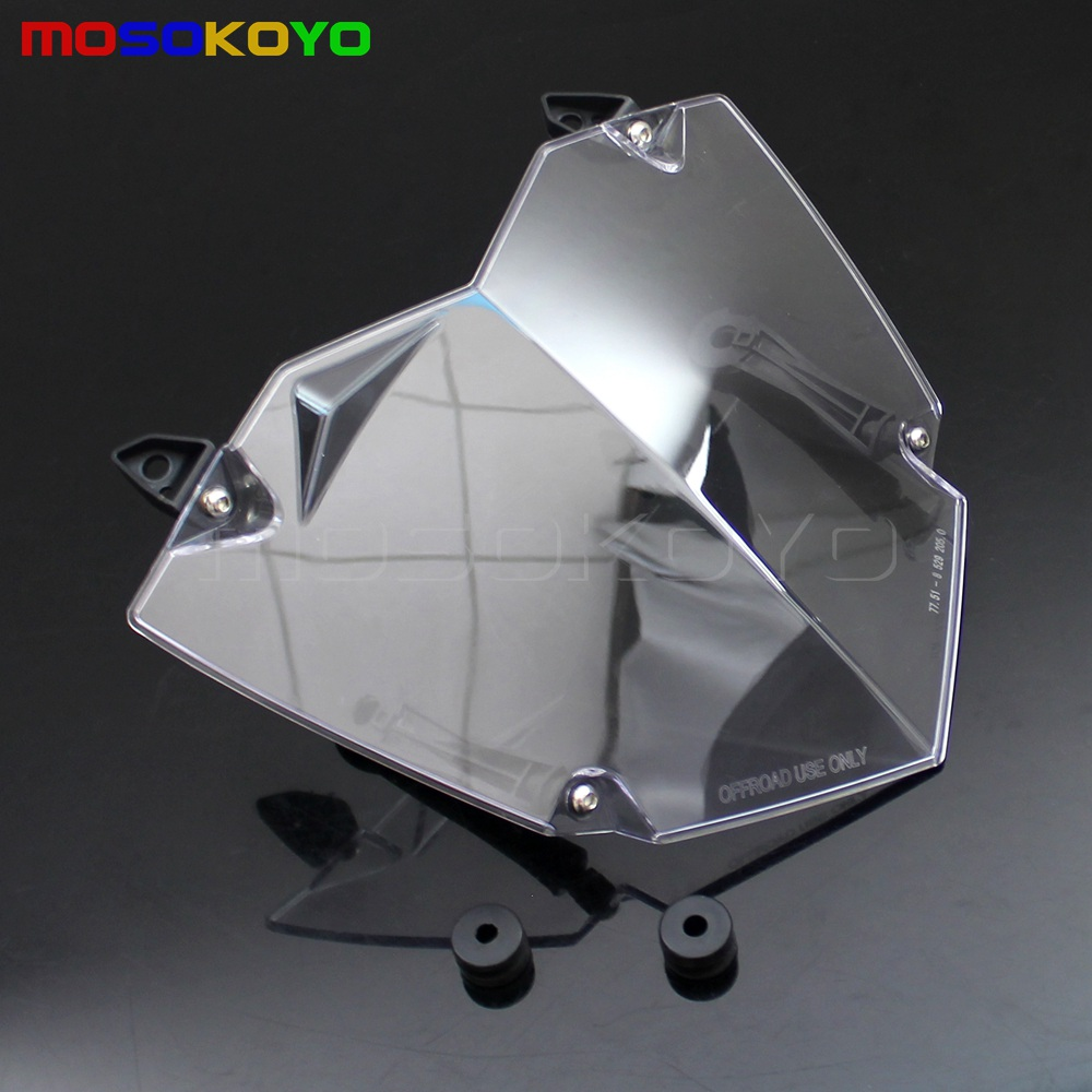 Front Headlight Guard Cover Lens Protector For BMW R1200GS ADV WC 13-17 Clear A1