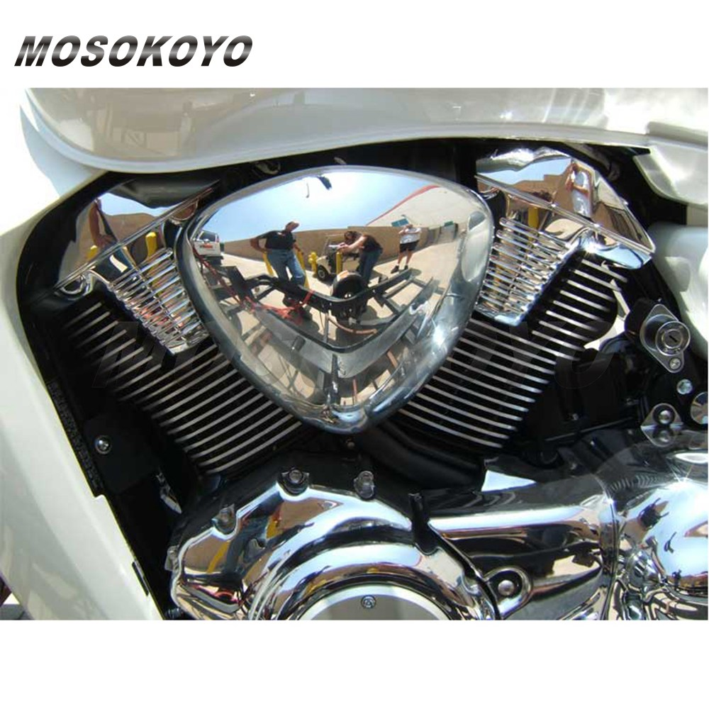 Motorcycle Air Cleaner Covers : Motorcycle chrome air filter cover for suzuki