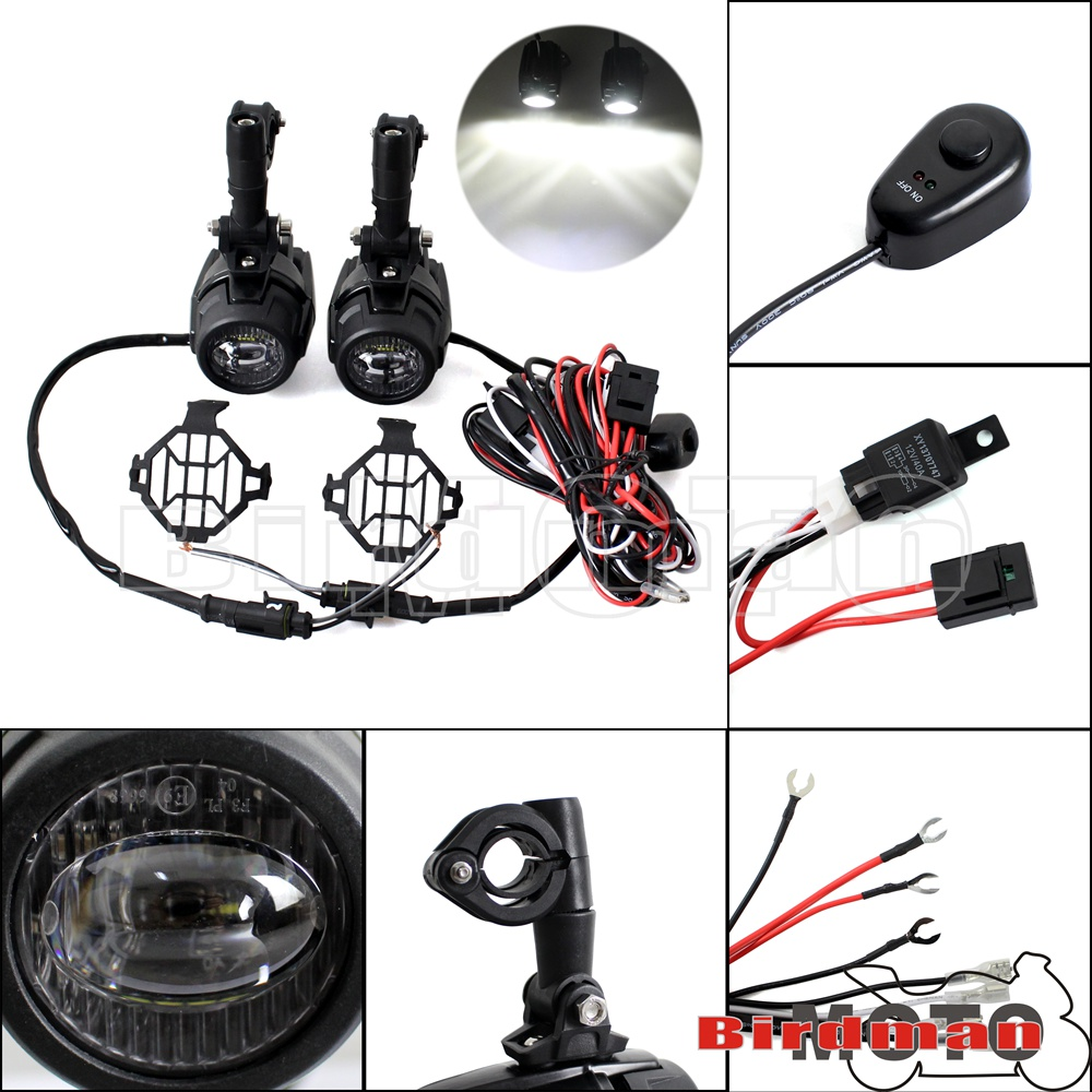 Led Auxiliary Foglight Lamp Guard Wiring Loom Harness For Bmw Automotive Looms R1200gs F800gs Ktm