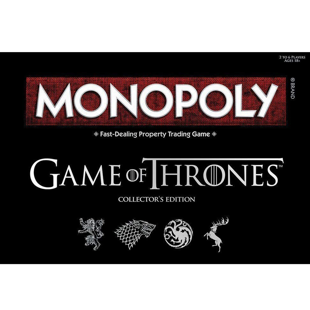 Monopoly Game of Thrones Monopoly Board Game Collector's Edition 2-6 Player 8+