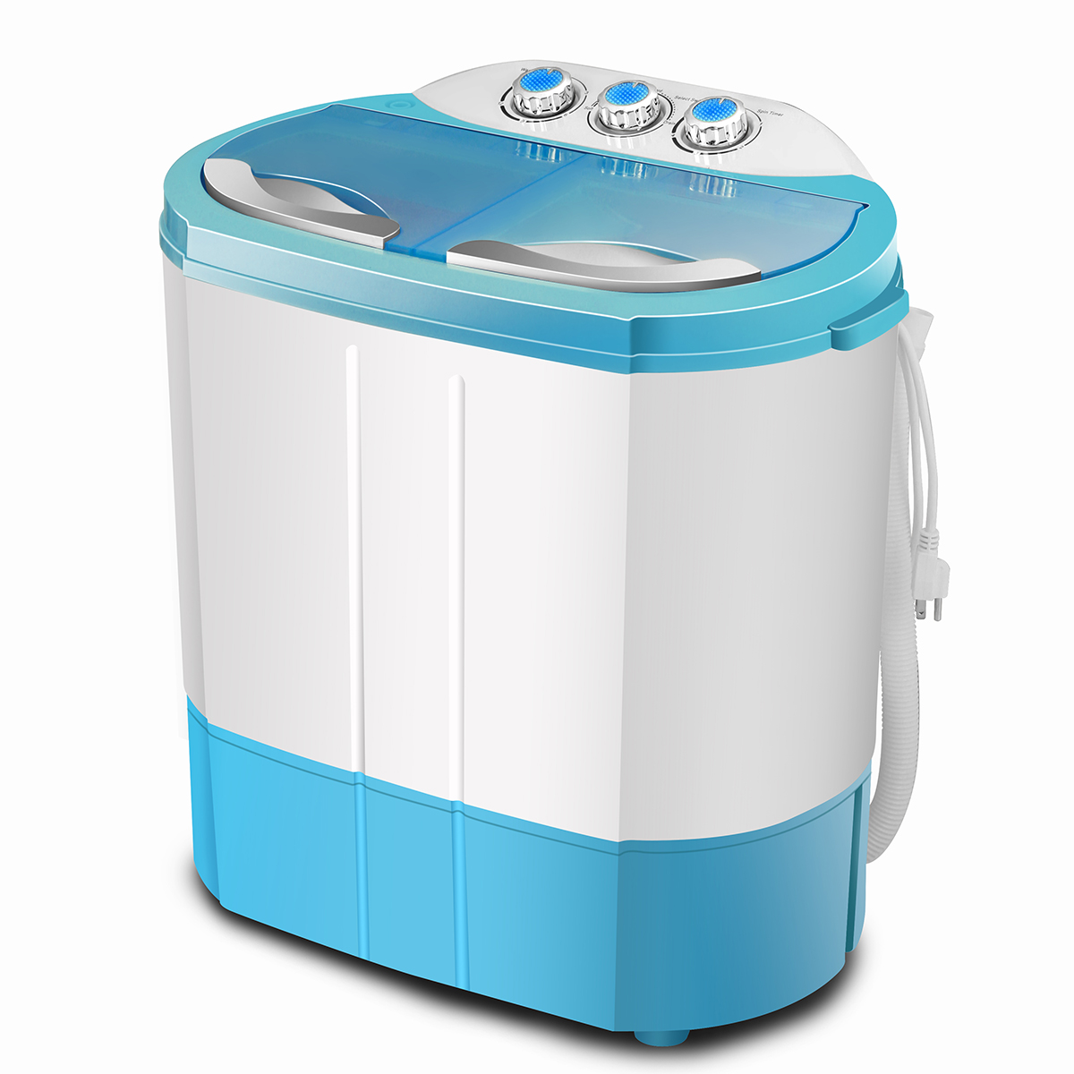 Details About 9.9LBS Mini Portable Top Load Washing Machine Compact Twin  Tub Laundry Washer US