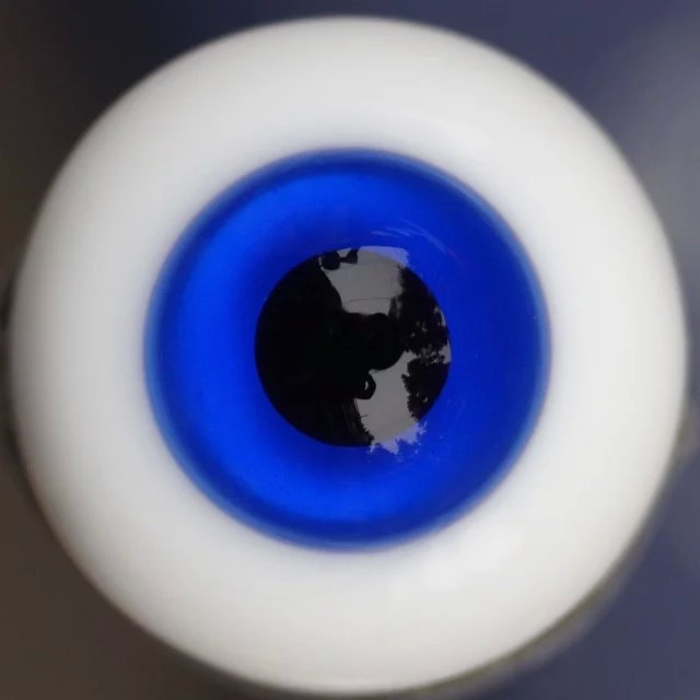 Extra High Grade /& Quality Glass Eye 18mm Blue Purple Vein HG SD 1//3 BJD