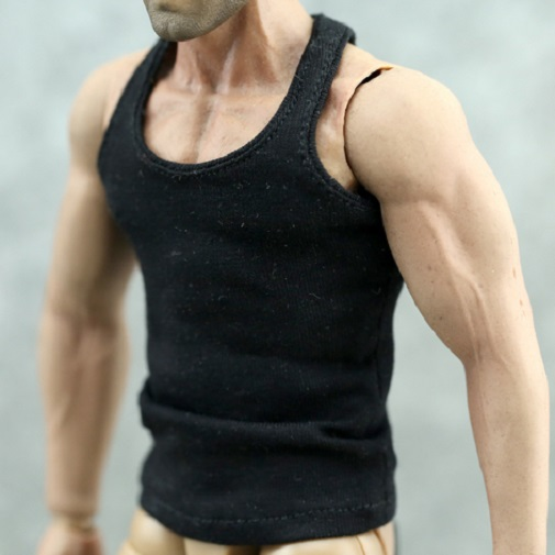 """Brown Tank top Tshirt For 1//6 Scale Male 12/"""" Action Figure 1:6 Model HT etc Toy"""