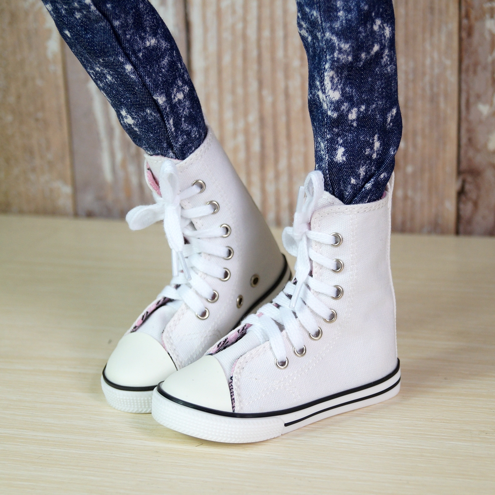 BJD White Sneakers Shoes Canvas For Male 70cm BJD doll AOD SD17 DOD DK Doll