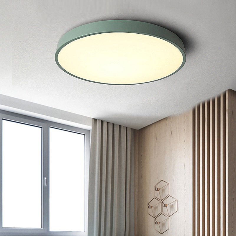Details about Modern LED Ceiling Light Round Flush Mount Fixture Dimmable  Bedroom Lamp USA