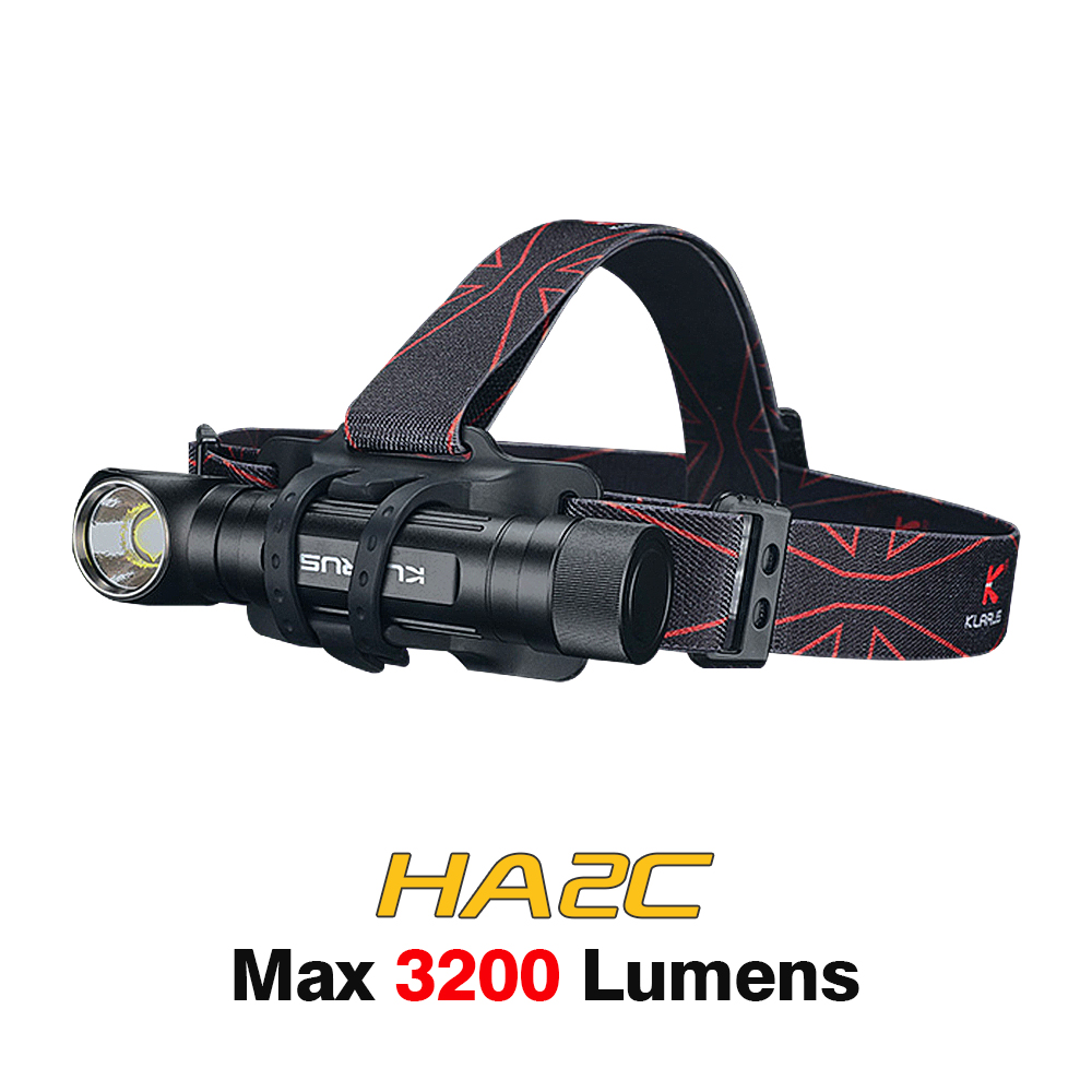 Klarus ha2c DEL Lampe Frontale 3200 lm