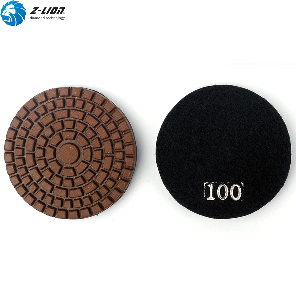 3 Inch Flex Concrete Polisher Diamond Polishing Pad Resin