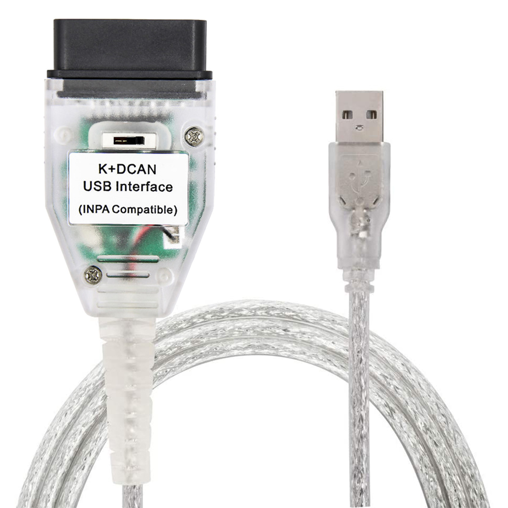 INTERFACE CABLE K+DCAN CAN OBD2 COMPATIBLE BMW MINI SCANNER DIAGNOSTIQUE INPA